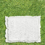 Paper on grass Royalty Free Stock Photos