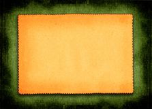 Paper on green background. Piece of yellowed paper against green material background vector illustration