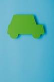 Paper green cars Stock Photos