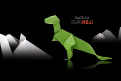 Paper green dinosaur Stock Photo