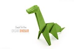 Paper green dinosaur Royalty Free Stock Image