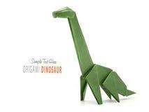 Paper green dinosaur Royalty Free Stock Photography