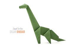Paper green dinosaur Stock Image