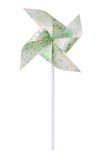 Paper green windmill Royalty Free Stock Image