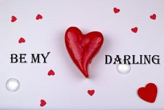 Paper greeting card concept. Be my darling. Stock Photo