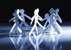 Paper group circle people Royalty Free Stock Image