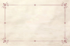 Paper grungy background with vintage frame Stock Images