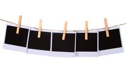 Paper hänga för foto royaltyfri fotografi