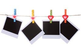 Paper hänga för foto royaltyfria bilder