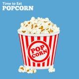 Paper hänger lös mycket av popcorn stock illustrationer