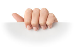Paper in hand Royalty Free Stock Images