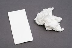 Paper handkerchiefs Royalty Free Stock Photos