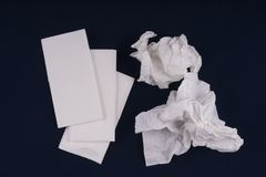 Paper handkerchiefs used Royalty Free Stock Photography