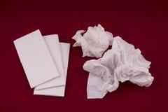 Paper handkerchiefs used Stock Photos