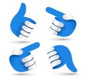 Paper hands Stock Image