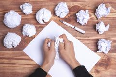 Paper hands ideas and inspiration stock photos