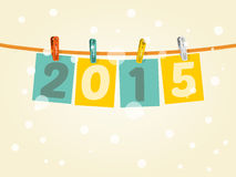 Paper 2015 Hang. This image is a Paper 2015 Hang Text Vector Illustration Royalty Free Stock Images