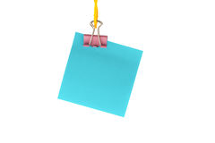 Paper hanging on a rope. On an isolated background Royalty Free Stock Photo