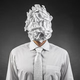 Paper on the head royalty free stock image