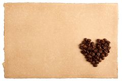 Paper and a heart Royalty Free Stock Images