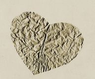 Paper heart. Hearts cut out of structured paper Stock Photo