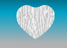 Paper heart. Floating in the sky in the background Stock Images