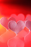 Paper heart. In blue light Royalty Free Stock Photography