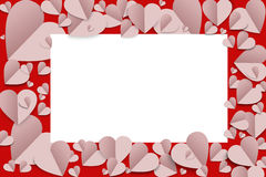 Paper heart background Royalty Free Stock Photos