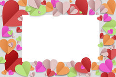Paper heart background Royalty Free Stock Photo
