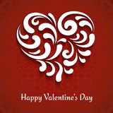 Paper heart background Stock Photography