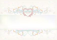 Paper Heart Banner Royalty Free Stock Image
