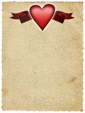 Paper with heart and banner Royalty Free Stock Image