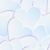 Paper heart banner with drop shadows. EPS 10 Royalty Free Stock Photography