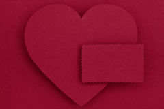Paper heart and blank card Royalty Free Stock Images