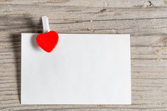 Paper with a heart Royalty Free Stock Images