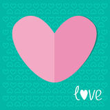 Paper heart on blue background. Love. Valentines d Stock Images