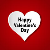 Paper heart cut from paper. Valentine`s Day card. Royalty Free Stock Images