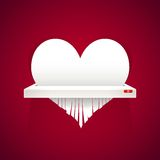 Paper Heart is Cut into Shredder Royalty Free Stock Image