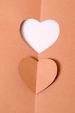 Paper heart. Cutted like hole Stock Photo