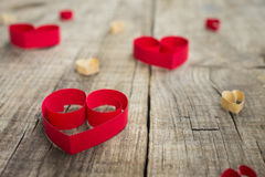 Paper Heart Decoration Stock Image