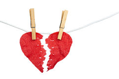 Paper Heart divided into two parts Royalty Free Stock Photography