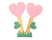Paper heart flowers symbol of love Stock Images