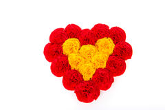 Paper heart of flowers for Valentine`s Day. Royalty Free Stock Photography