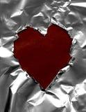 Paper heart frame Stock Image