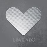 Paper heart on gray background. Royalty Free Stock Photos