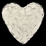 Paper heart isolated Stock Images