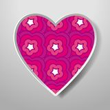 Paper Heart isolated on white background. Icon. Vector greeting. Card with a holiday on Valentine`s day, March 8, Mother`s Day, marriage, etc Royalty Free Stock Images