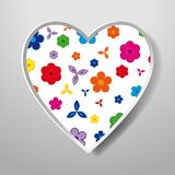 Paper Heart isolated on white background. Icon. Vector greeting. Card with a holiday on Valentine`s day, March 8, Mother`s Day, marriage, etc Stock Image