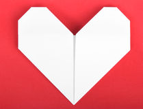 Paper heart origami Stock Photos