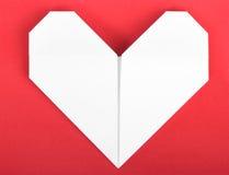 Paper heart origami Stock Photos